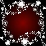 Diseño floral artístico stock de ilustración