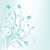 Diseño floral azul del desfile artístico Foto de archivo libre de regalías
