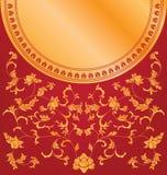 Diseño floral chino del fondo Fotografía de archivo