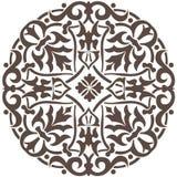 Diseño floral circular Fotografía de archivo libre de regalías
