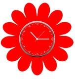 Diseño floral creativo de la cara de reloj Foto de archivo libre de regalías