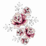 Diseño floral de la acuarela stock de ilustración