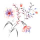 Diseño floral de la acuarela ilustración del vector