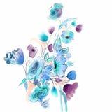 Diseño floral de la acuarela Foto de archivo libre de regalías