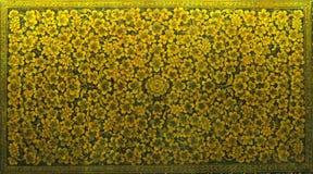 Diseño floral de la caja amarilla fina hermosa de la laca Foto de archivo libre de regalías