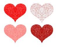 Diseño floral de la dimensión de una variable del corazón ilustración del vector