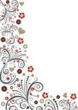 Diseño floral de la frontera del vector Fotos de archivo