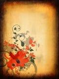 Diseño floral de la vendimia Imagen de archivo