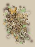 Diseño floral de las camisetas de la mariposa fotografía de archivo libre de regalías