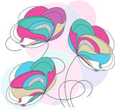 Diseño floral de lujo del vector Foto de archivo libre de regalías