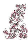 Diseño floral decorativo Fotografía de archivo libre de regalías
