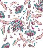 Diseño floral del adorno de la acuarela ilustración del vector
