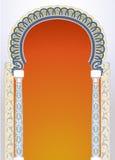 Diseño floral del arco stock de ilustración