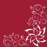 Diseño floral del desfile adornado aislado en rojo Foto de archivo libre de regalías
