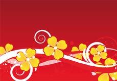 Diseño floral del fondo Foto de archivo libre de regalías