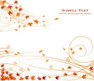 Diseño floral del fondo del otoño - belleza común de la decoración del arte libre illustration