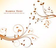 Diseño floral del fondo del otoño - belleza común de la decoración del arte stock de ilustración