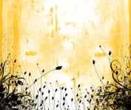 Diseño floral del grunge Imagen de archivo libre de regalías