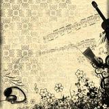 Diseño floral del grunge Fotos de archivo libres de regalías