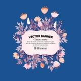 Diseño floral del marco Fotos de archivo libres de regalías