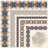 Diseño floral del marco del vintage Fotografía de archivo libre de regalías