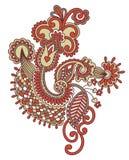 Diseño floral del tatuaje Fotos de archivo