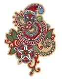 Diseño floral del tatuaje Foto de archivo