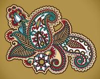 Diseño floral del tatuaje Fotografía de archivo