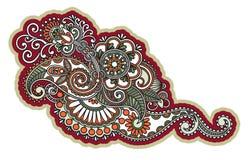 Diseño floral del tatuaje Fotografía de archivo libre de regalías