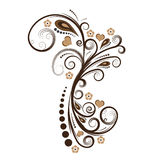 Diseño floral del vector Imagenes de archivo