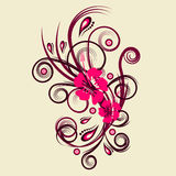 Diseño floral del vector Foto de archivo libre de regalías