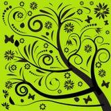 Diseño floral del vector abstracto Fotos de archivo libres de regalías