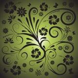 Diseño floral del vector abstracto stock de ilustración