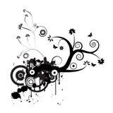 Diseño floral del vector de Grunge stock de ilustración