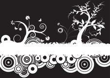 Diseño floral del vector de Grunge Foto de archivo libre de regalías