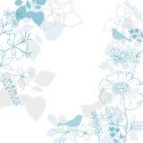 Diseño floral del vector del fondo de los pájaros stock de ilustración