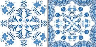 Diseño floral del vintage del ornamento stock de ilustración