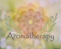 Diseño floral delicado del Aromatherapy stock de ilustración