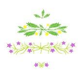Diseño floral - ejemplo del vector Imagen de archivo