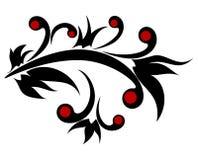 Diseño floral en estilo gótico stock de ilustración