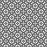 Diseño floral inconsútil blanco y negro del modelo de lunar del vector Fotos de archivo