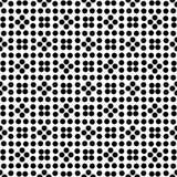 Diseño floral inconsútil blanco y negro del modelo de lunar del vector Imagenes de archivo