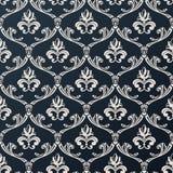 Diseño floral inconsútil del negro del vector del fondo del papel pintado del vintage Imagen de archivo libre de regalías
