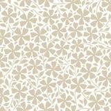 Diseño floral neutral exhausto de las flores y de las hojas de la silueta de la mano Modelo incons?til del vector en el fondo bla libre illustration