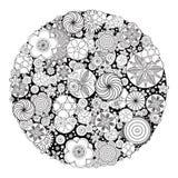 Diseño floral para el libro de colorear para crecido Fotografía de archivo libre de regalías