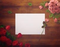 Diseño floral para la reserva la fecha, gracias cardar, día de madres, día de tarjetas del día de San Valentín, tarjetas de cumpl Fotografía de archivo