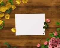 Diseño floral para la reserva la fecha, gracias cardar, día de madres, día de tarjetas del día de San Valentín, tarjetas de cumpl Foto de archivo