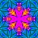 Diseño floral rosa claro y azul del fondo stock de ilustración