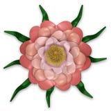 Diseño floral rosado Imágenes de archivo libres de regalías
