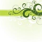 Diseño floral verde ilustración del vector